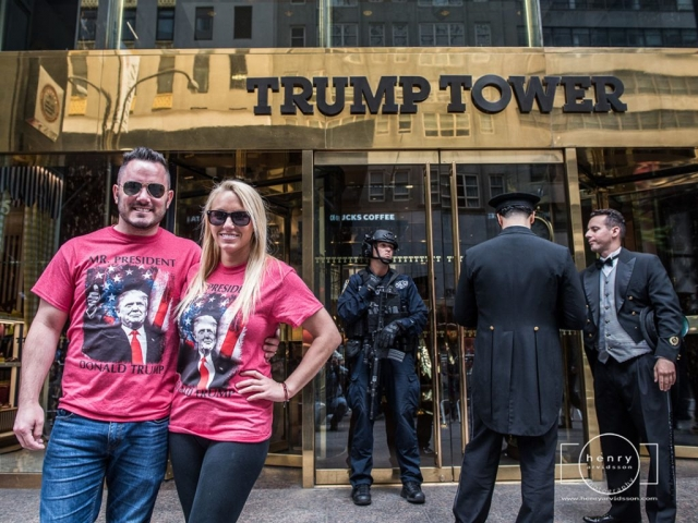 Supporters of President Trump